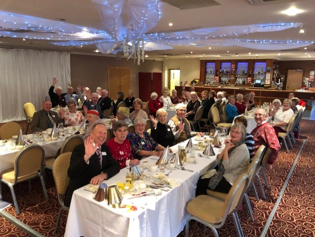 Ladies, members and guests at the Christmas lunch